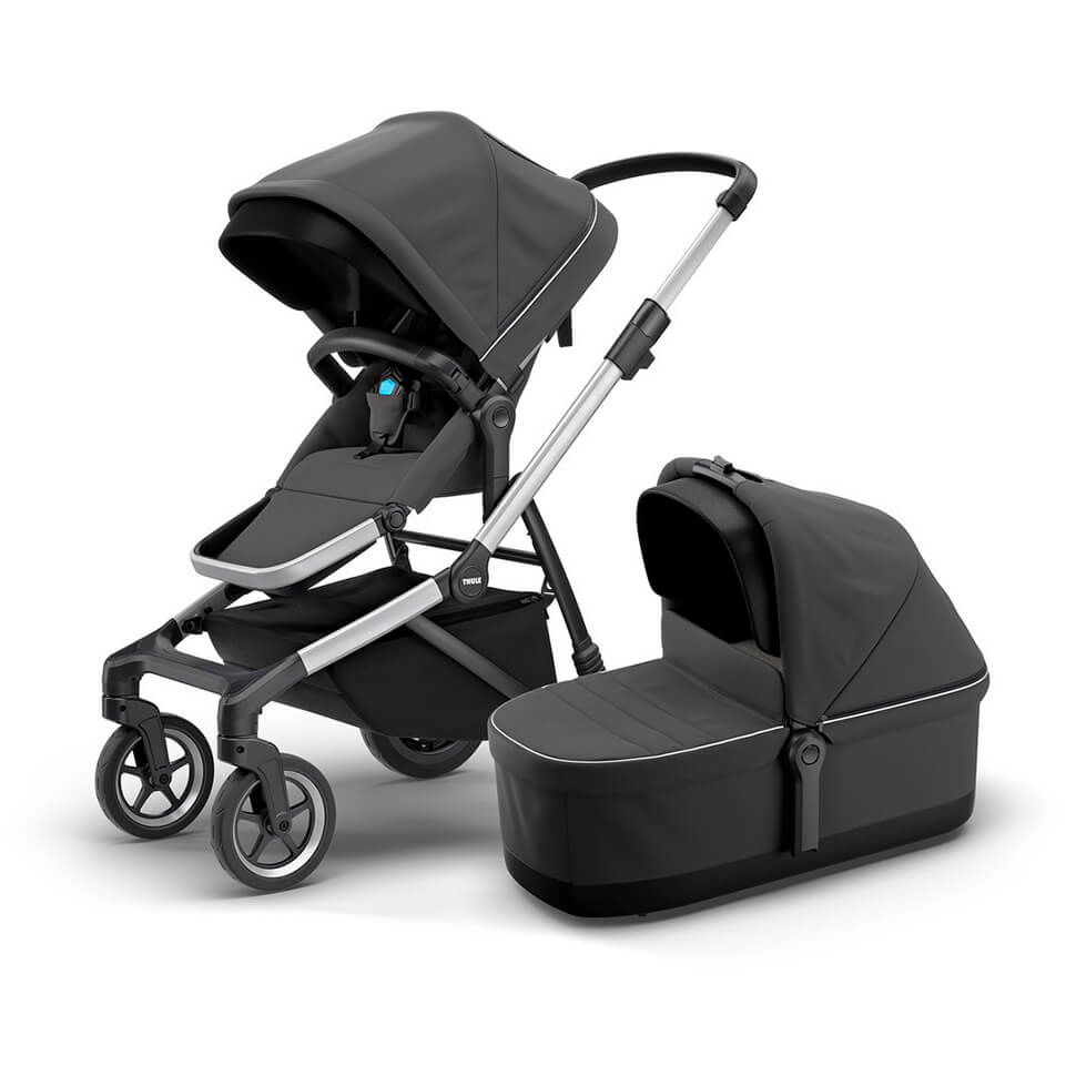 Детская коляска Thule Sleek 2 в 1, серая, с люлькой